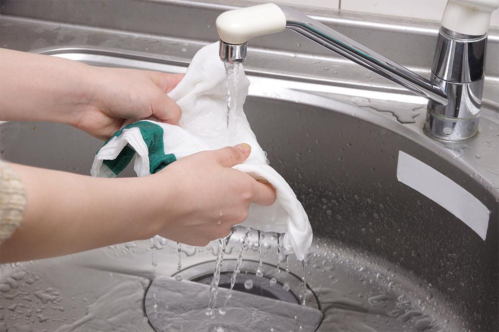 ふきんの手洗い